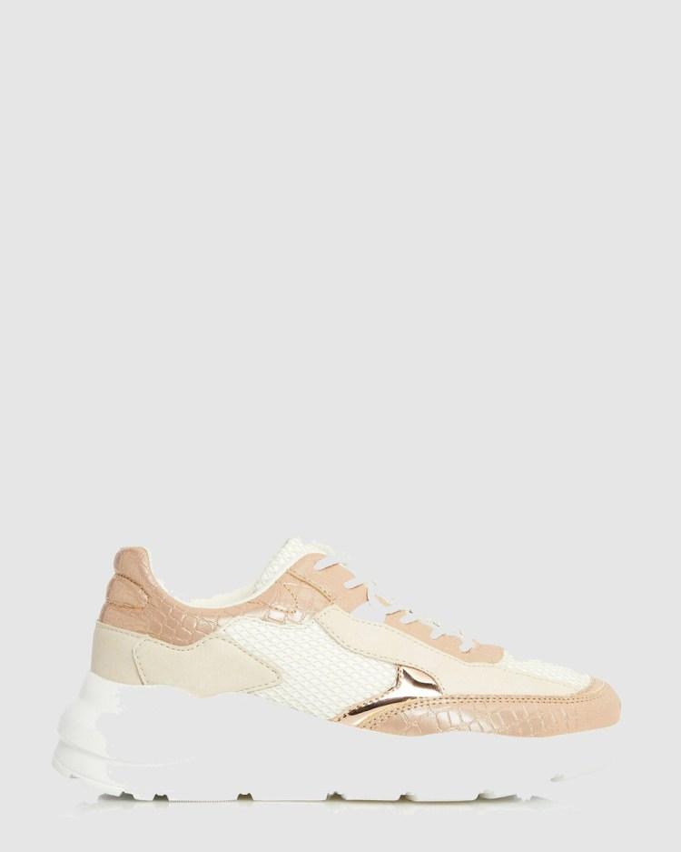 Dune London Esmey Di Low Top Sneakers Rose Gold