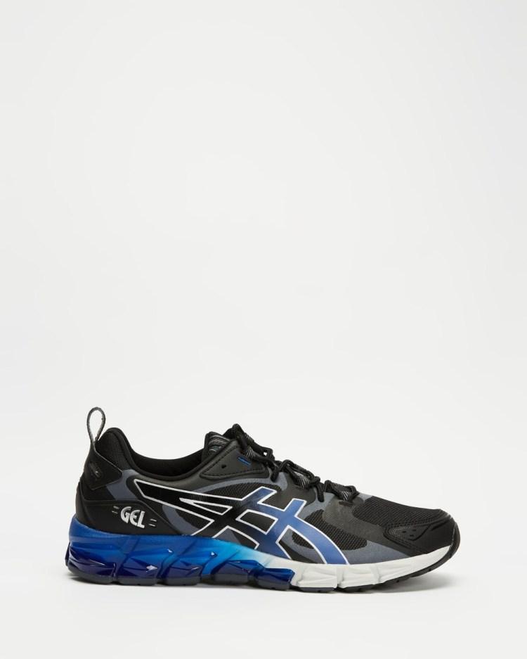 ASICS GEL Quantum 180 6 Mens Performance Shoes Black & Monaco Blue GEL-Quantum