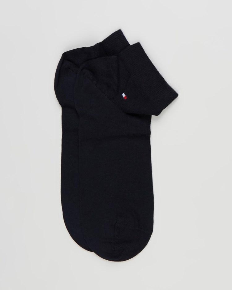 Tommy Hilfiger Quarter Socks 2 Pack Ankle Dark Navy 2-Pack