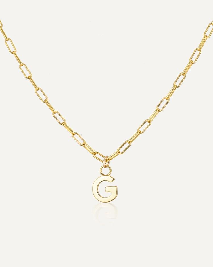 Avant Studio Letter G Necklace Jewellery Gold