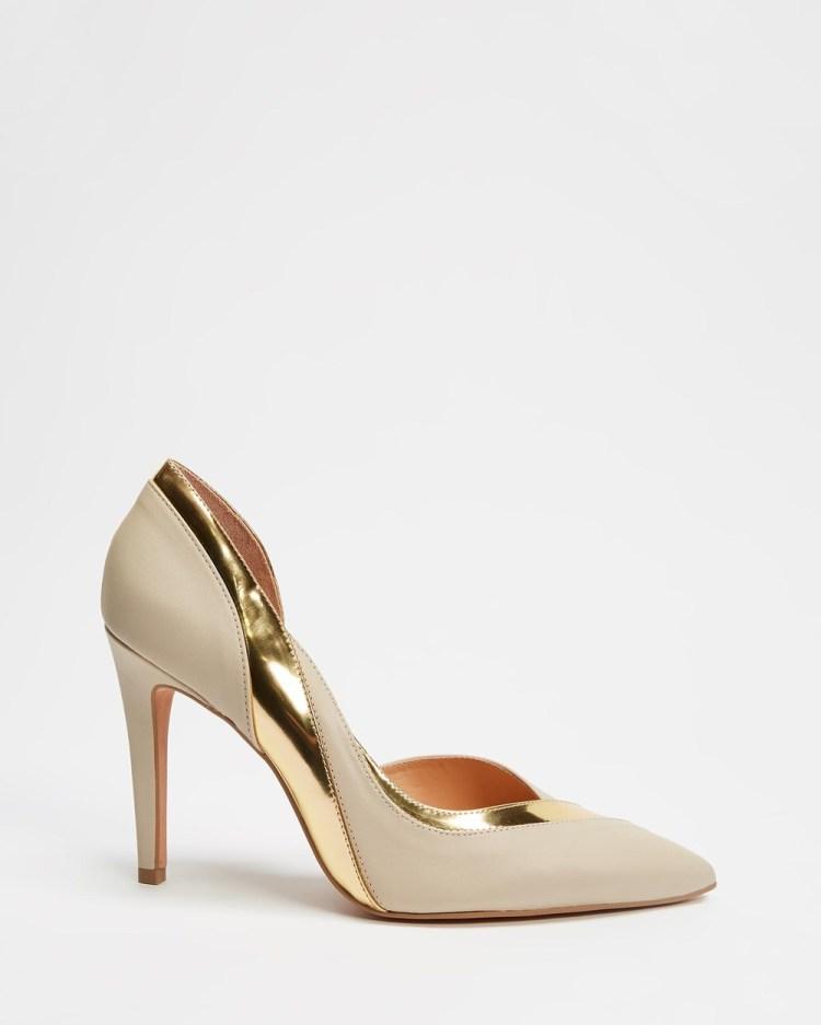 Nina Armando Elsa All Pumps Off White and Gold