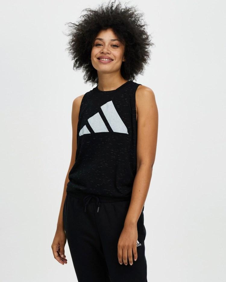adidas Performance Sportswear Winners 2.0 Tank Top Muscle Tops Black Melange