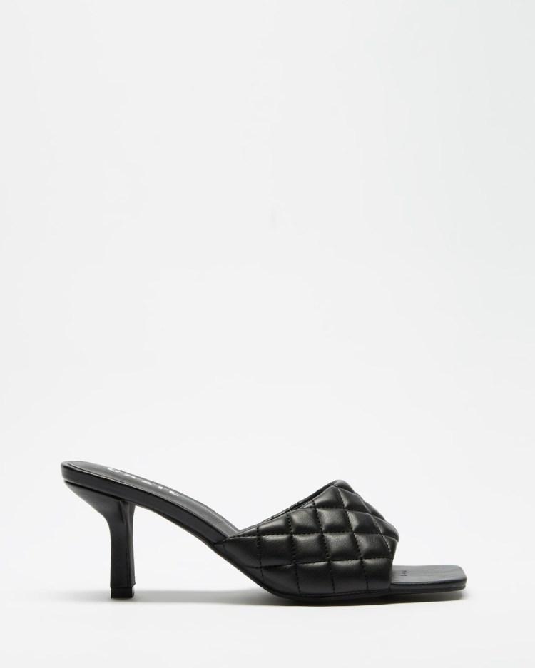 Dazie Kas Heels Black Smooth