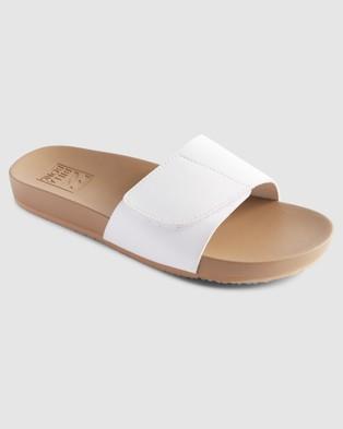 Billabong Coronado Slides Sandals WHITE
