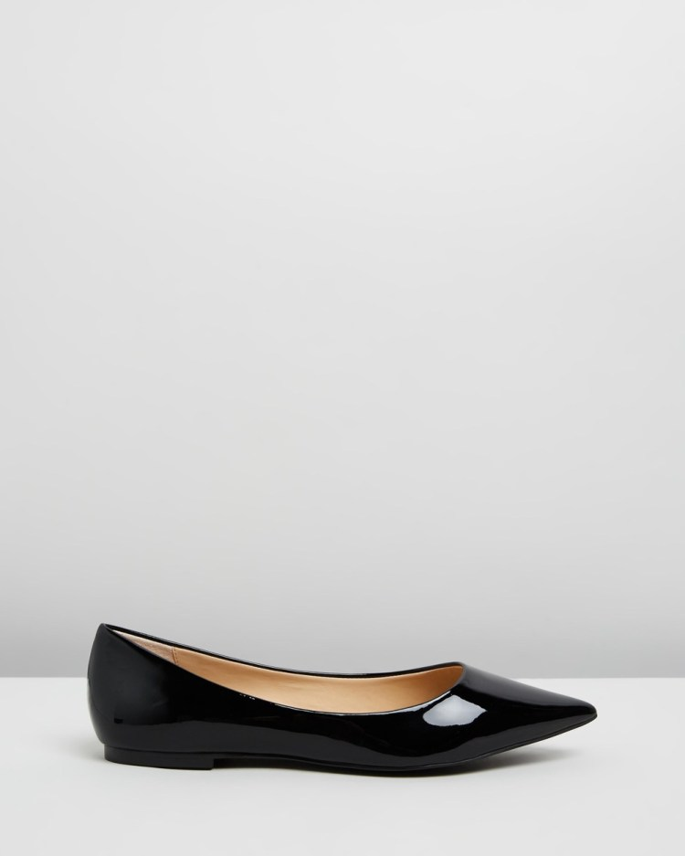 Atmos&Here Kate Leather Flats Ballet Black Patent Leather