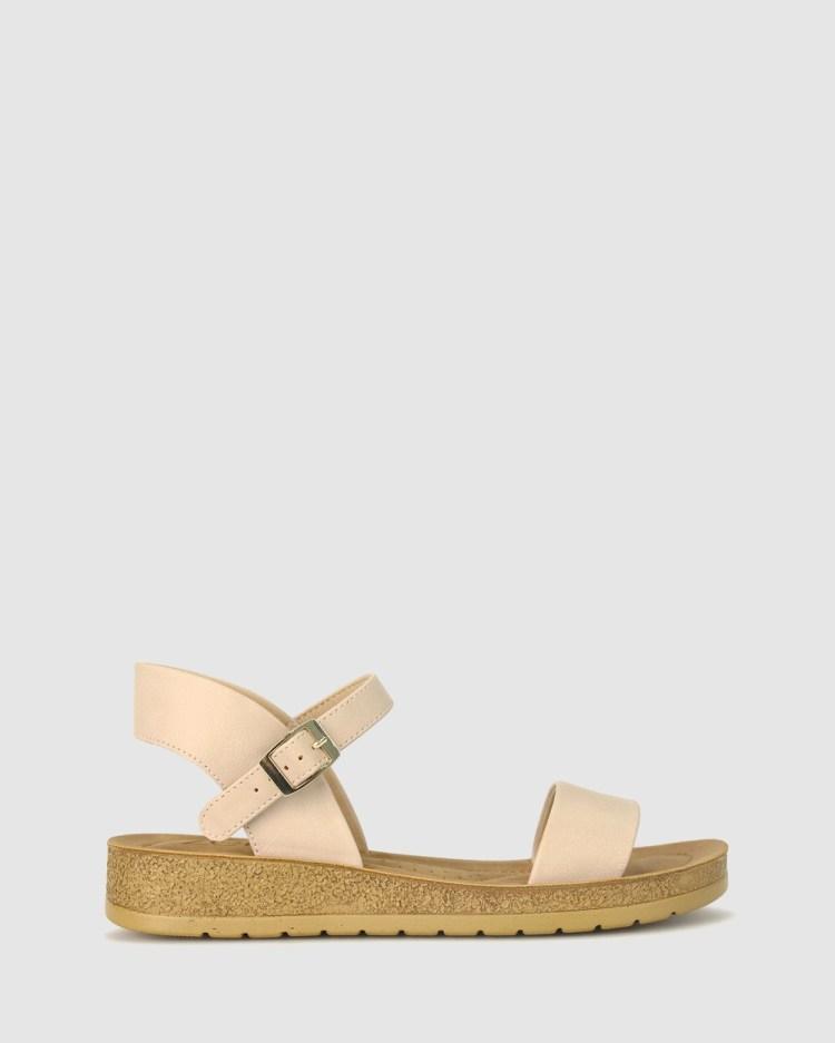 Zeroe Ramble Comfort Sandals Latte