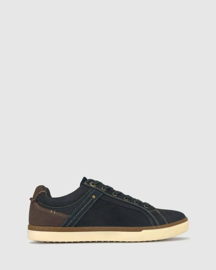 Airflex Joey Leather Sneakers Lifestyle Navy