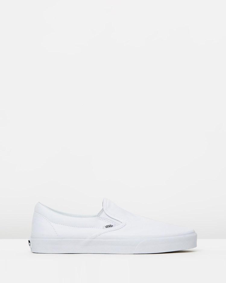 Vans Classic Slip On Unisex Slip-On Sneakers True White