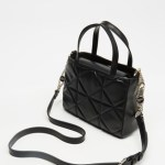 LOVE MOSCHINO - Quilted Handbag with Cross Body Strap - Handbags (Black) Quilted Handbag with Cross-Body Strap