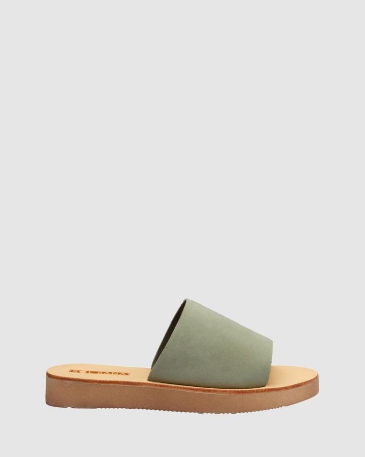 Sol Sana Tara Slides Sandals Moss