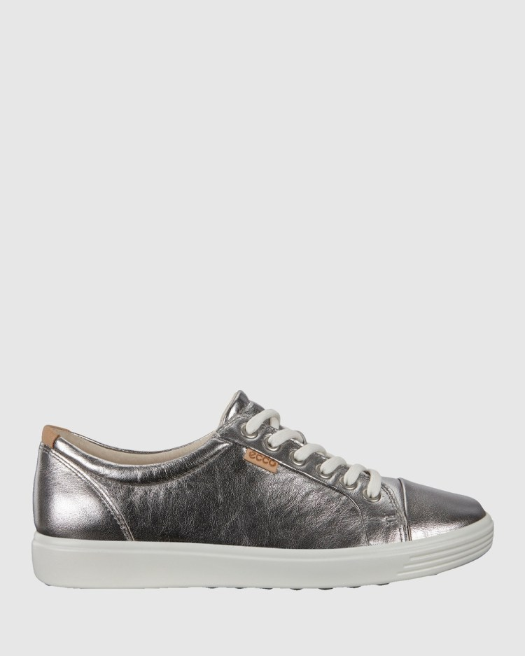 ECCO Soft 7 Women's Sneakers Lifestyle Silver