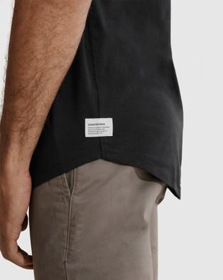 Country Road Short Sleeve Longline Garment Dyed T shirt T-Shirts & Singlets black T-shirt