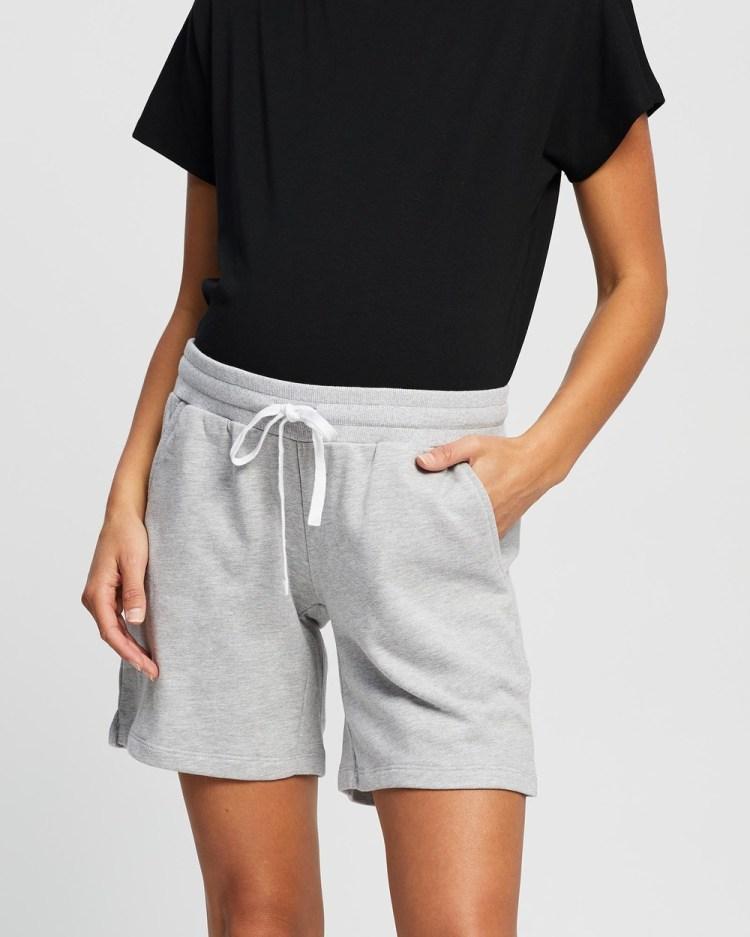 Angel Maternity Lounge Jersey Shorts Sleepwear & Loungewear Marl Grey