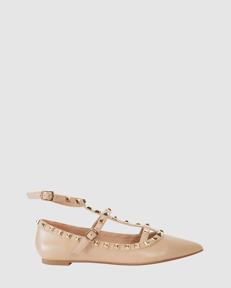 Pink Inc Inez Ballet Flats NUDE