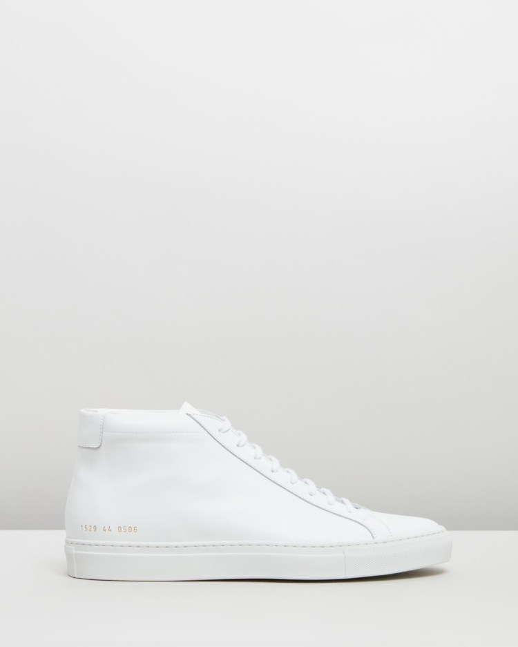 Common Projects Achilles Mid Mens Sneakers White