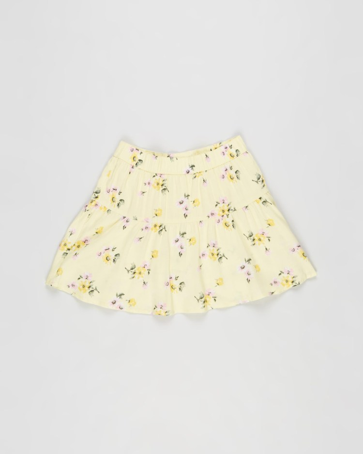 Abercrombie & Fitch Circle Skort Teens Skirts Yellow Grounded Floral