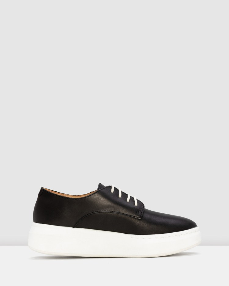 Rollie Derby City Shoes Wedges Black