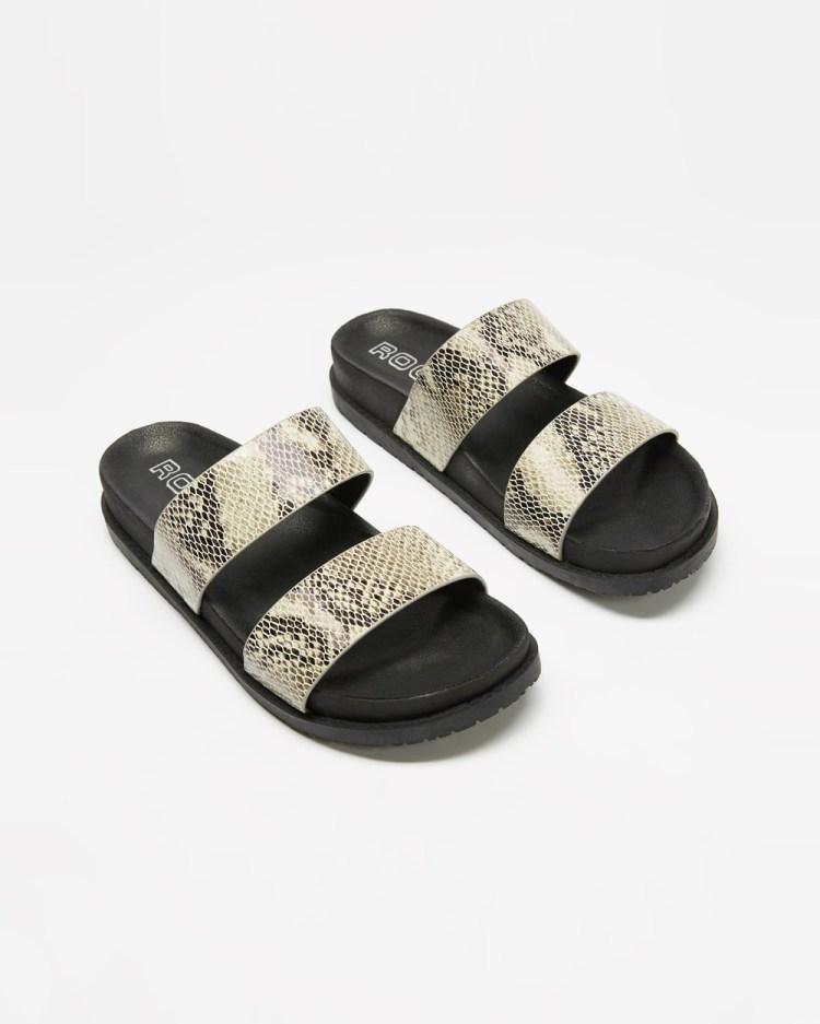 ROC Boots Australia Tarot Sandals Natural Snake