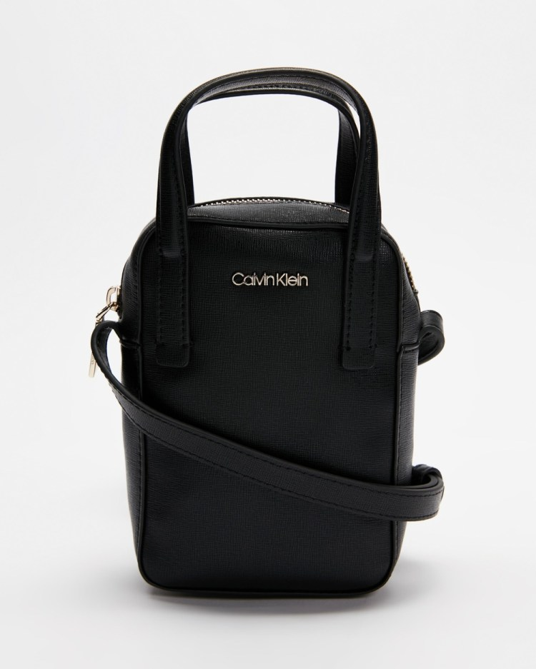 Calvin Klein Camera Bag with Top Handle Travel and Luggage Ck Black