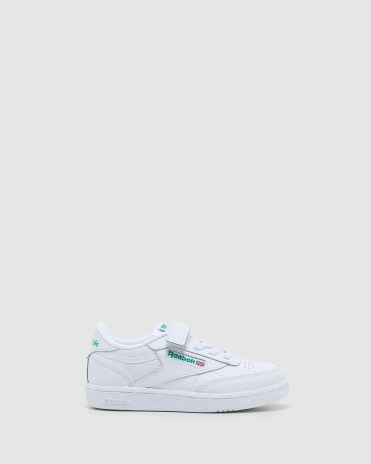 Reebok Club C 1V Pre School Sneakers White/Green Pre-School