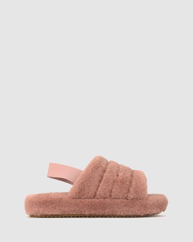 Betts Fluff Flatform Slippers & Accessories Dusty Pink