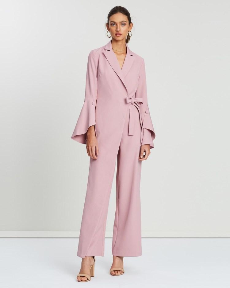 Loreta Gin & Tonic Jumpsuit Jumpsuits Playsuits Pink-Purple