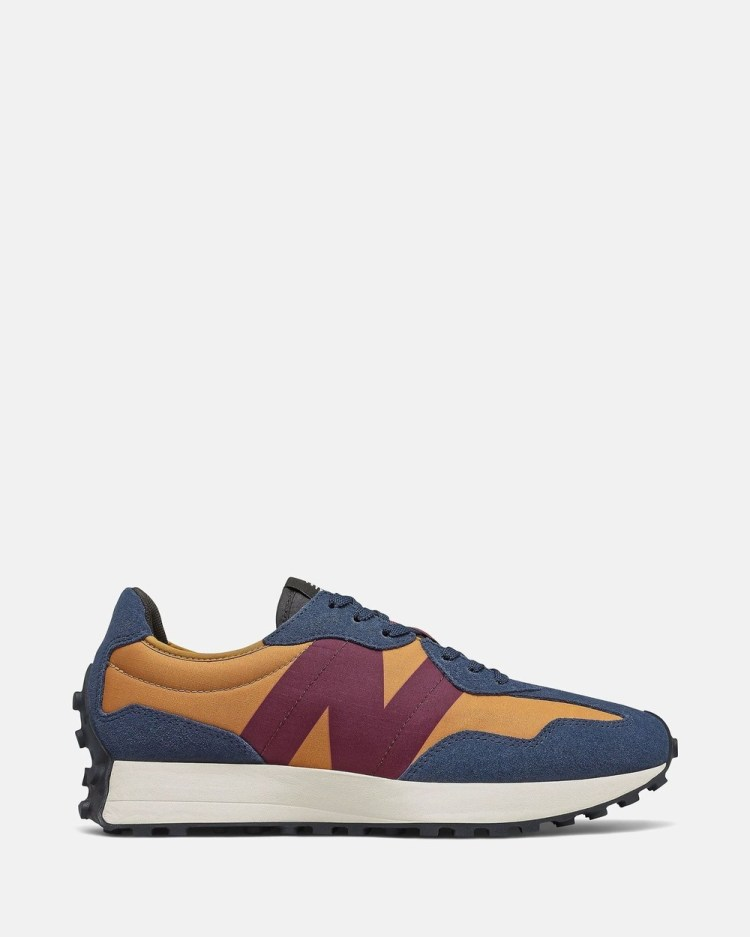 New Balance 327 Standard Fit Men's Low Top Sneakers Natural Indigo