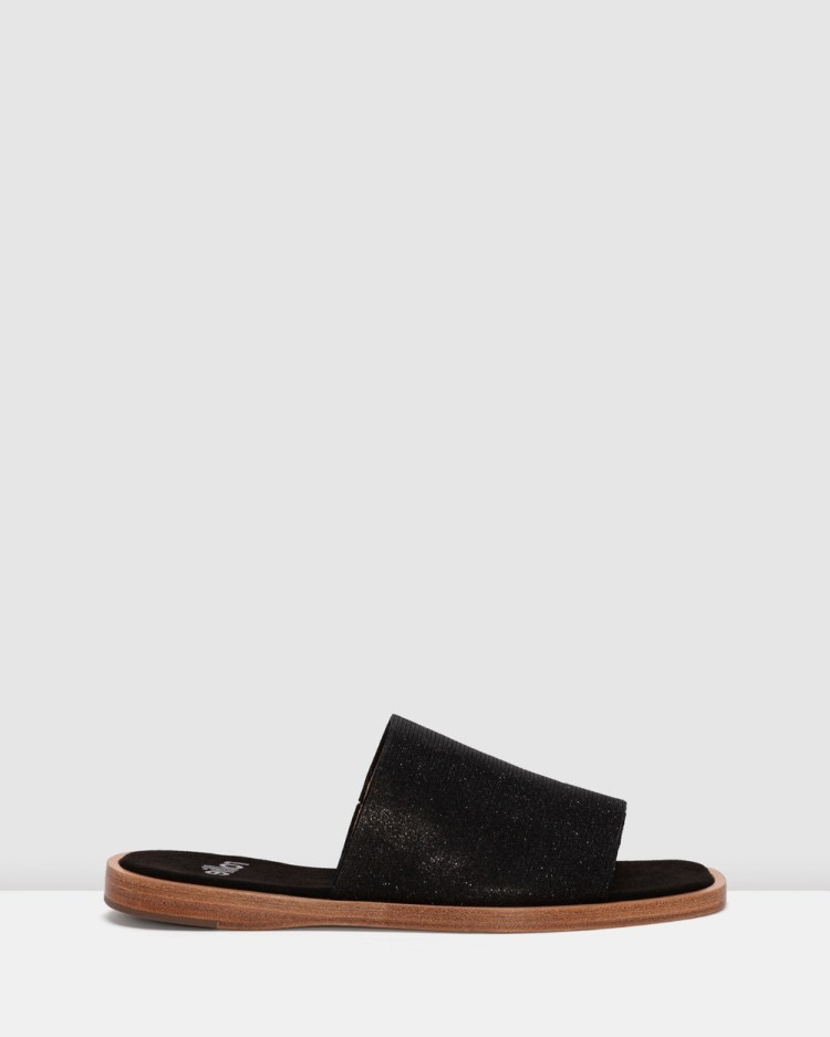 Rollie Alpha Slide Sandals Black