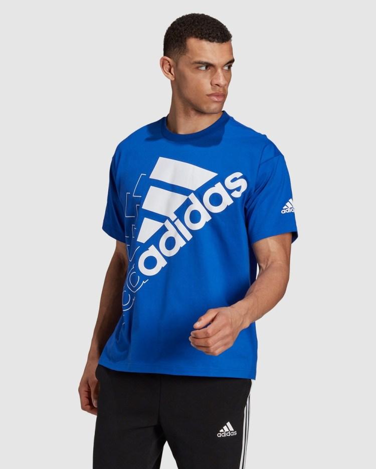 adidas Performance Essentials Logo Tee Gender Neutral T-Shirts & Singlets Blue