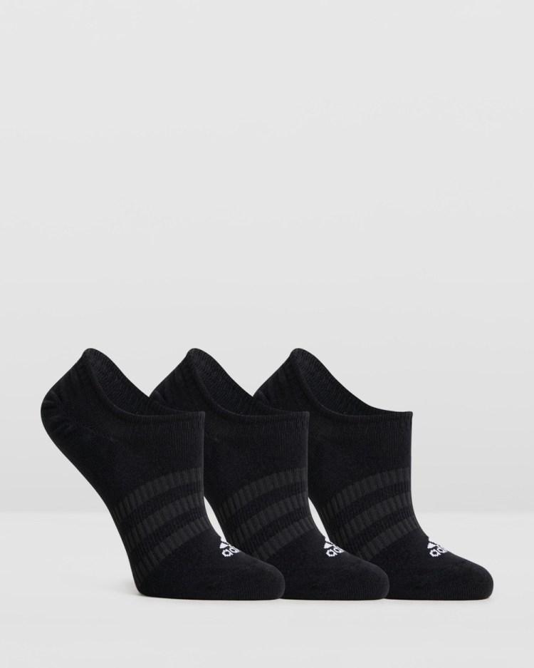 adidas Performance Light No Show Socks 3 Pack Underwear & Black No-Show 3-Pack