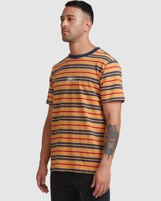RVCA Rvca Shadow Stripe Short Sleeve Tee T-Shirts GOLDENROD