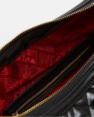 LOVE MOSCHINO - Quilted Shoulder Bag - Handbags (Black) Quilted Shoulder Bag