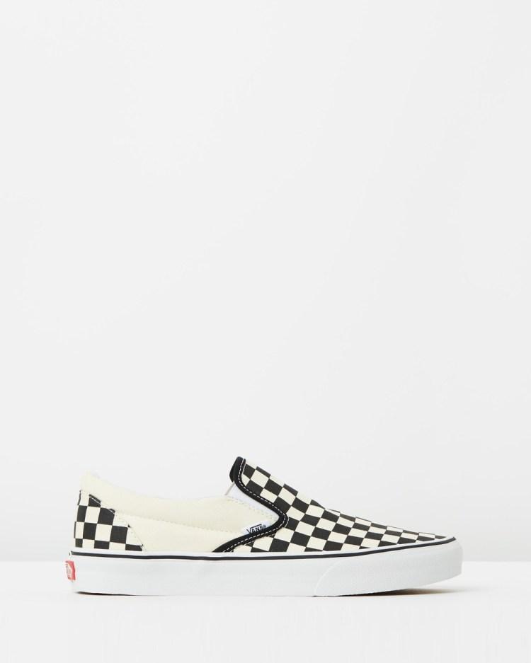 Vans Classic Slip On Unisex Slip-On Sneakers Black & White Checker White