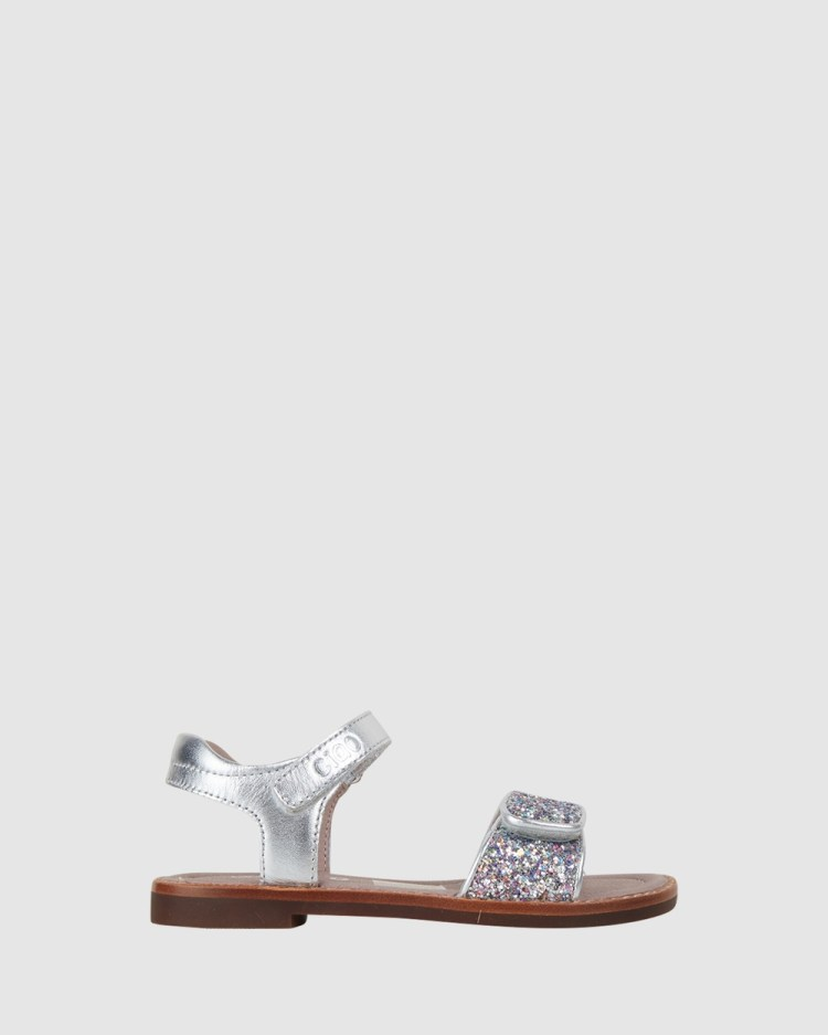 CIAO Glamour Rainbow Sandals Silver