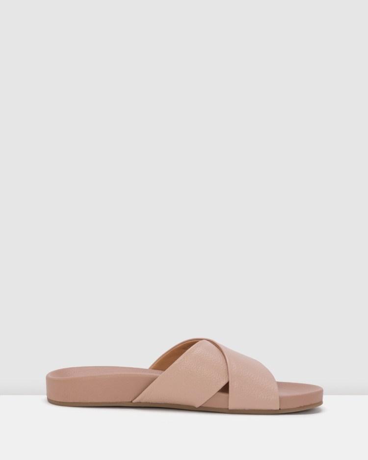 Rollie Tide Cross Slide Sandals Pink