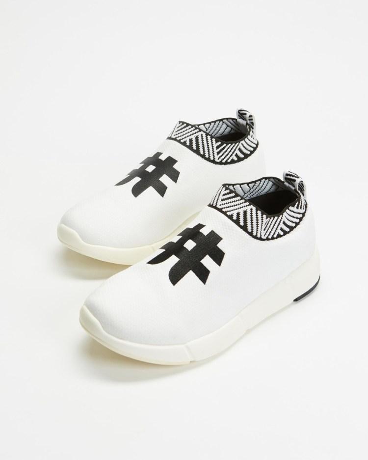 Rens Original Waterproof Coffee Sneakers Slip-On Rebel White