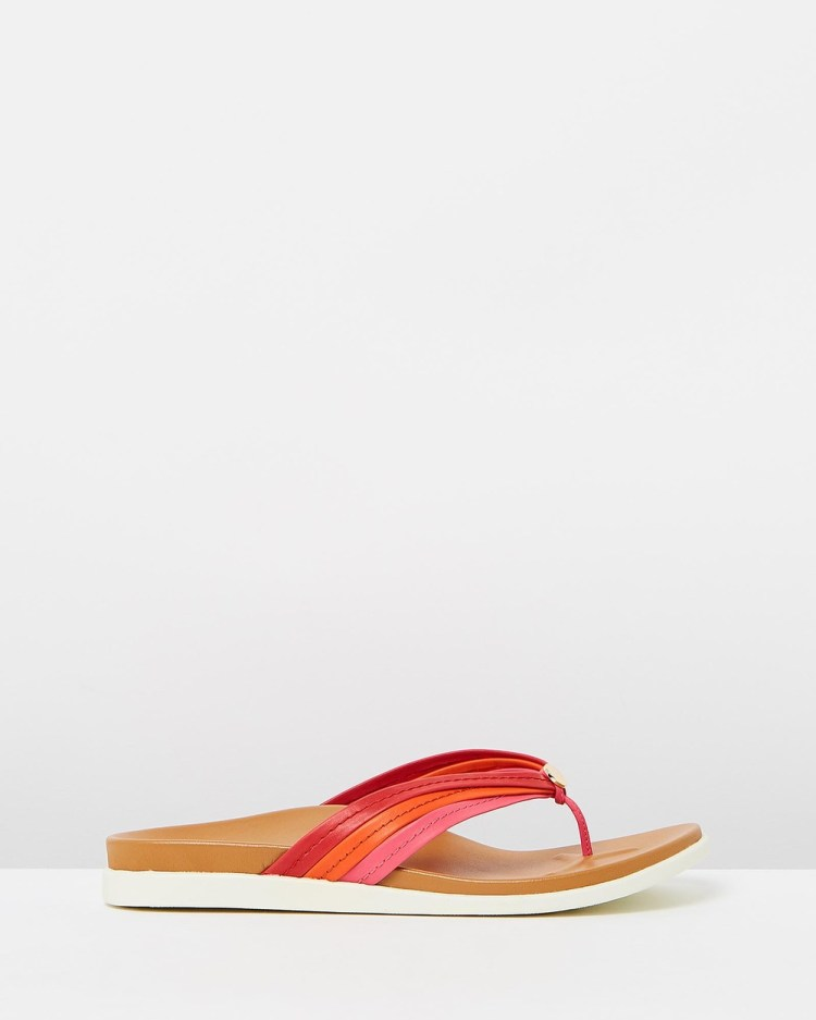 Vionic Catalina Toe Post Sandals All thongs Pink & Red