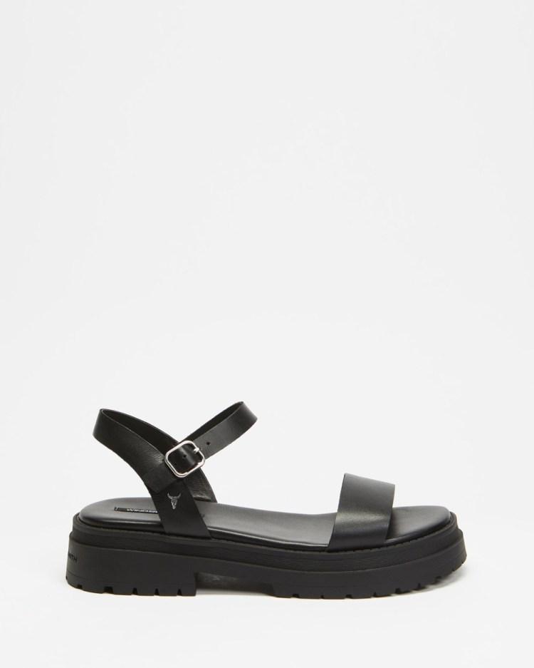 Windsor Smith Linger Sandals Black