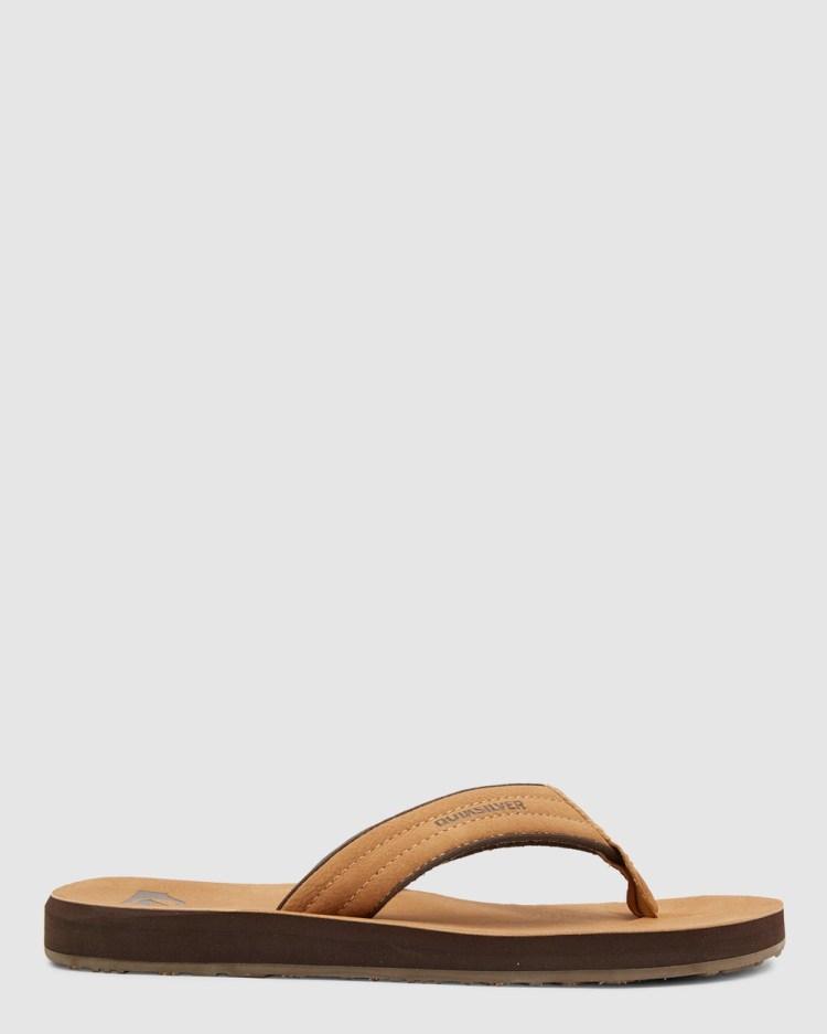 Quiksilver Mens Carver Nubuck Sandals Casual Shoes TAN PATTERN_1