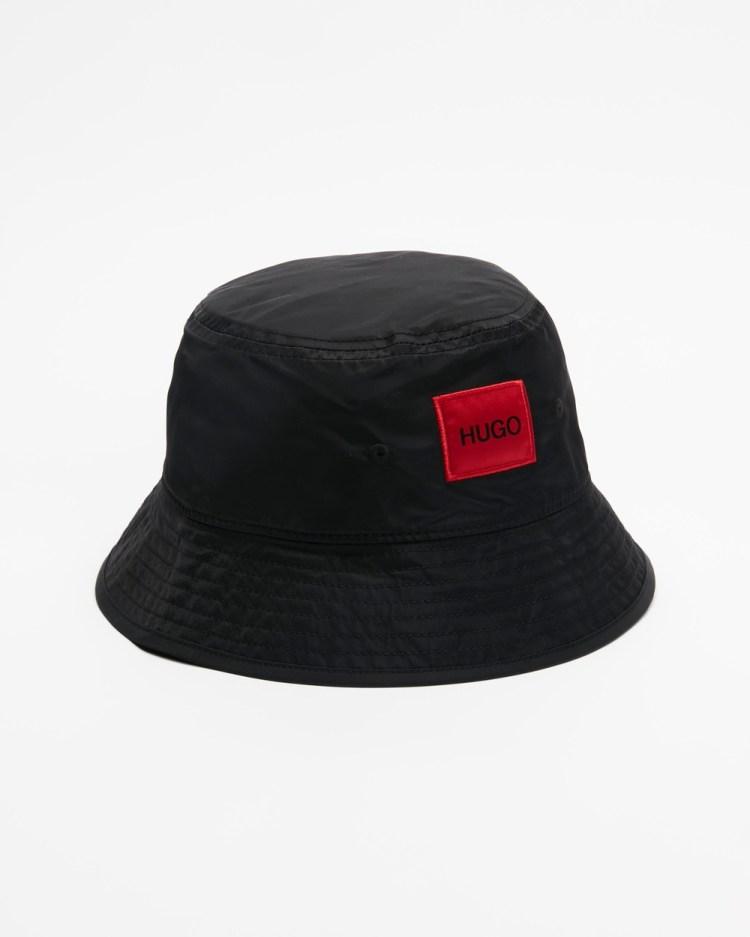 HUGO Logo Patch Bucket Hat Hats Black