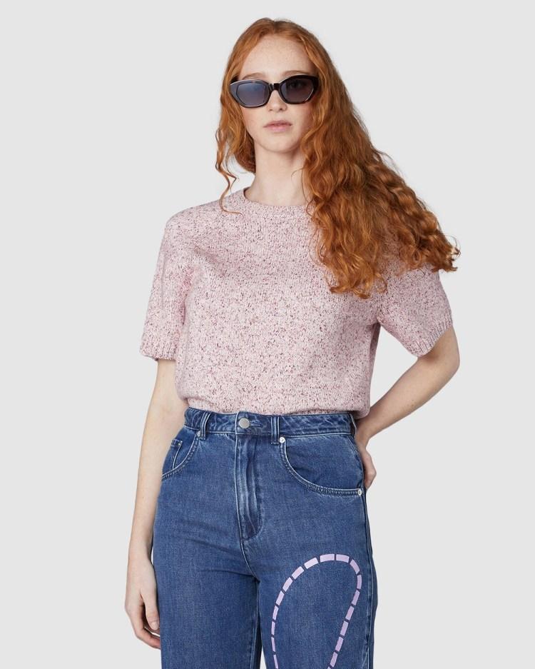 Gorman Lenny Knit Top Tops Pink