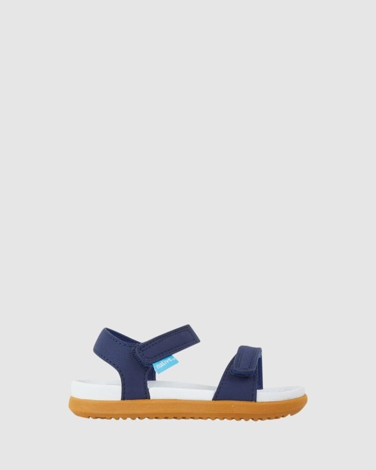 Native Charley Sandals Regatta Blue/White/Brown Ii