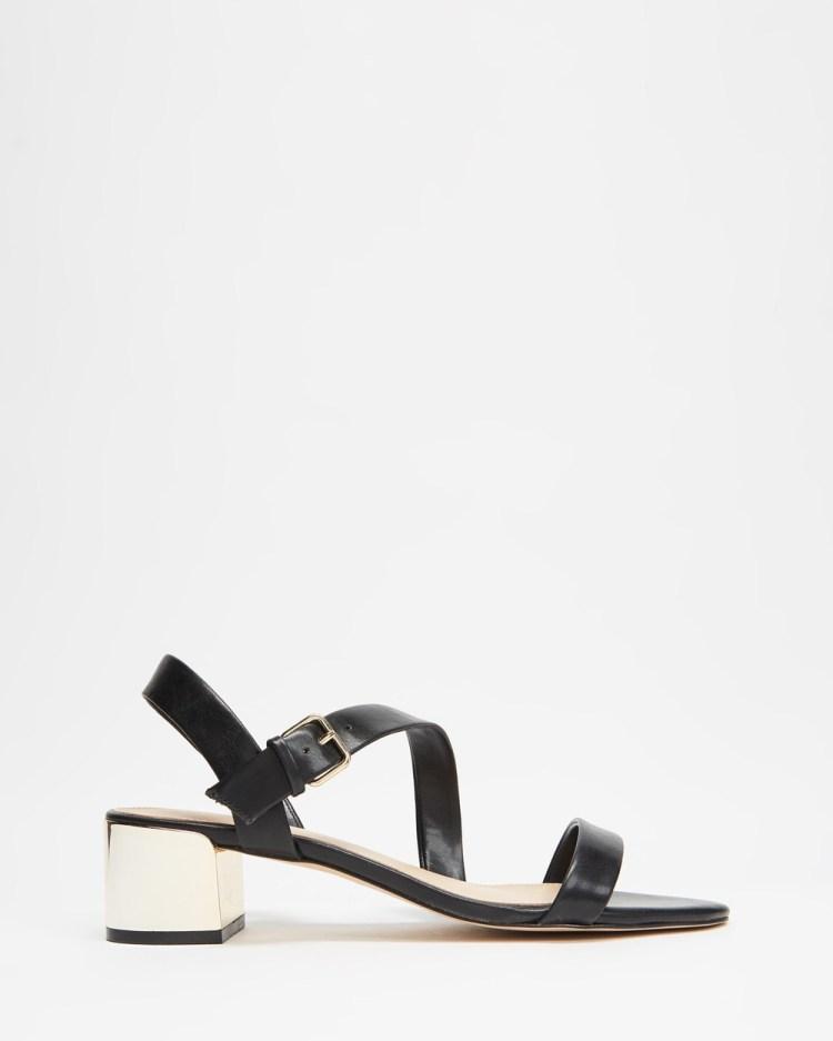ALDO Alauria Ankle Strap Heel Sandals Black