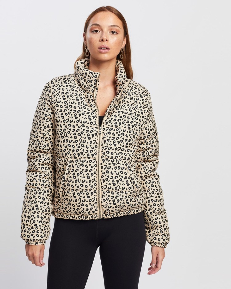 All About Eve Leopard Puffer Jacket Coats & Jackets PRINT