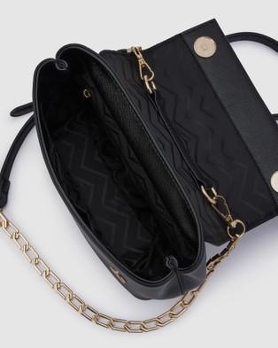 Olga Berg - Clarissa Shoulder Bag With Top Handle - Clutches (Black) Clarissa Shoulder Bag With Top Handle