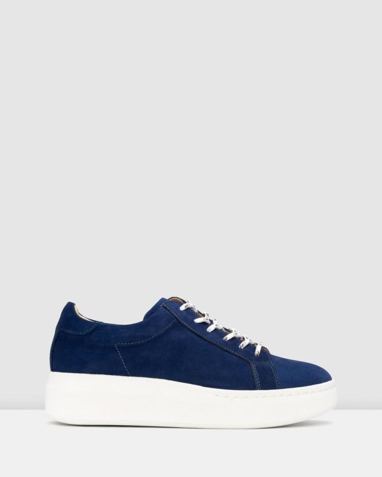 Rollie City Sneaker Wedges Navy