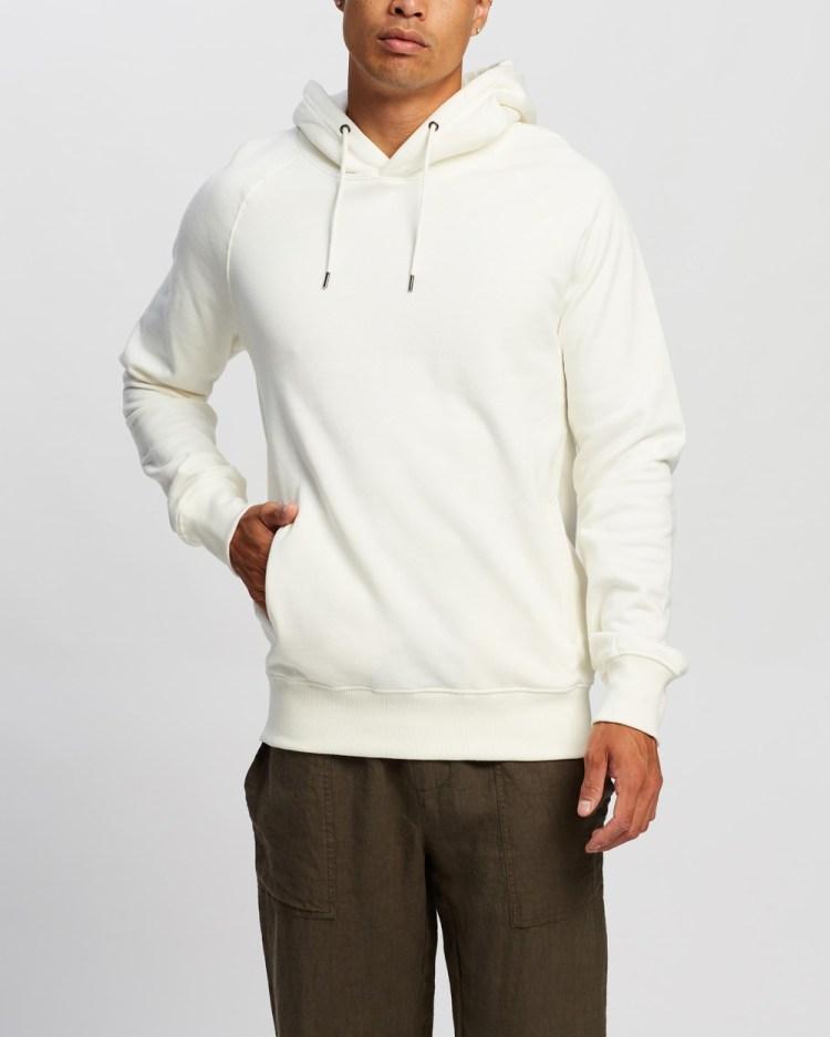AERE Organic Cotton Hooded Sweat Hoodies White