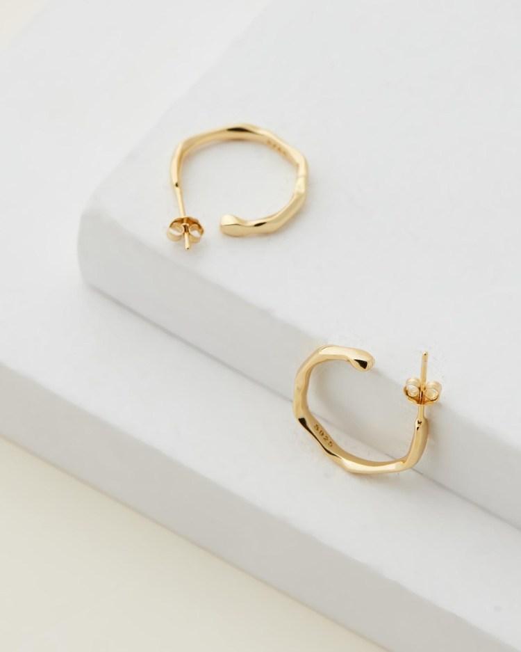 Avant Studio Amber Hoops Jewellery Gold