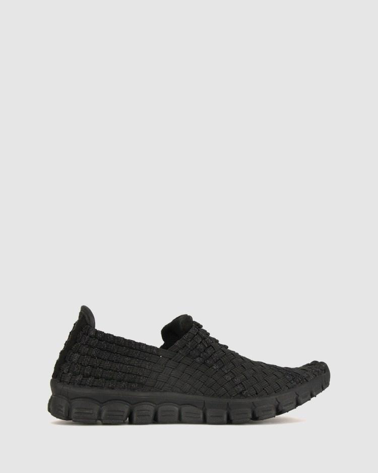 Betts Dancer Elasticated Sneaker Casual Shoes Black