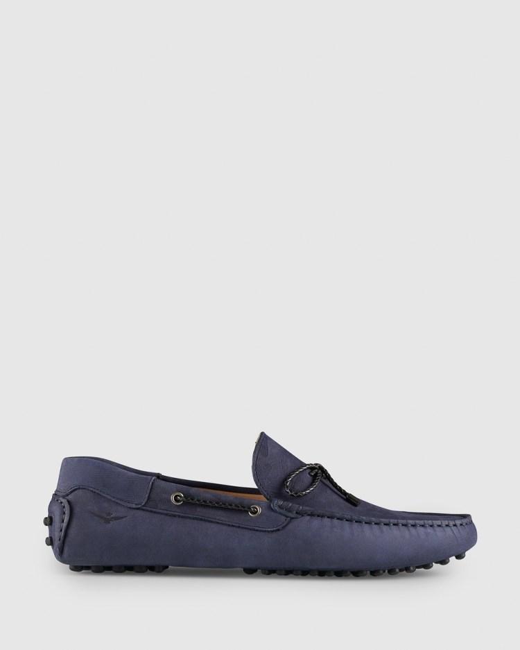 Aquila Fiorano Driving Shoes Dress Navy